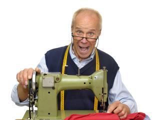 man, seamstress, machine wallpaper