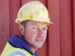 man, worker, helmet wallpaper