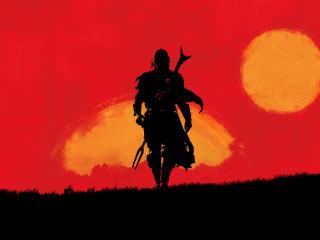 Mandalorian x Red Dead Redemption 2 wallpaper