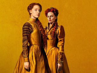 Margot Robbie and Saoirse Ronan in Mary Queen of Scots 2018 Movie wallpaper