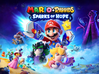 Mario plus Rabbids Game wallpaper