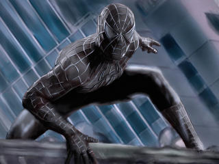 Marvel Comics Spider-Man Black Costume wallpaper