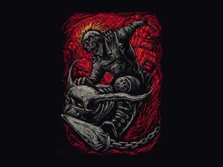 Marvel Ghost Rider Minimalist wallpaper
