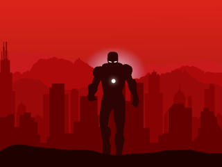 Marvel Iron Man Minimalist wallpaper