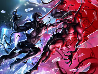 Marvel Riot vs Venom wallpaper