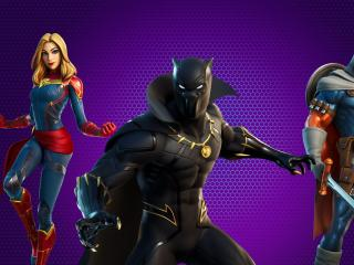 Marvel Royalty & Warriors Fortnite wallpaper