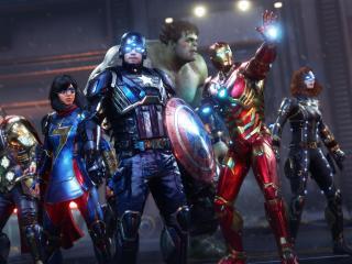 Marvel's Avengers 4K Gaming Poster wallpaper