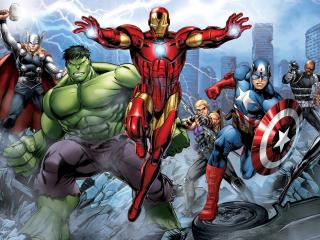 Marvel's Avengers Assemble Comic wallpaper