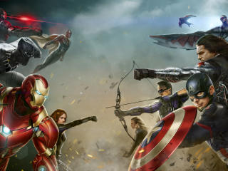 Marvel Superhero Digital Art wallpaper