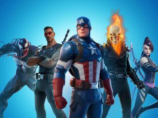 Marvel x Fortnite wallpaper