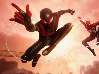 Marvels Spiderman Miles Morales and Parker wallpaper