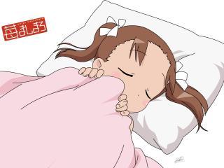 mashimaro matsuoka miu, girl, blanket wallpaper