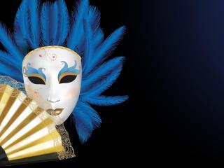 mask, fan, hair wallpaper