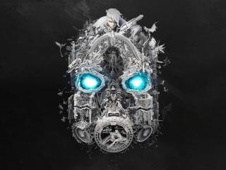 Mask of Mayhem 5K wallpaper