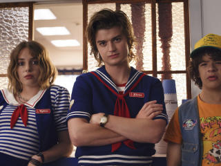 Maya Hawke and Joe Keery Stranger Things 2019 image