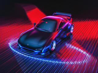Mazda RX-7 Digital Art wallpaper