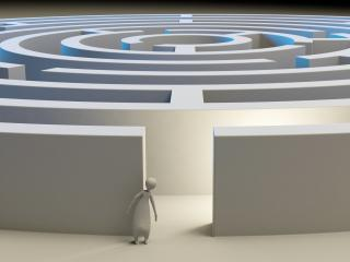 maze, 3d, figure wallpaper
