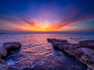 Mediterranean Sea Sunset wallpaper