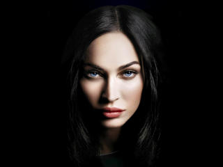 Megan Fox Beautiful Actress Eyes wallpaper