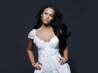 Megan Fox White Dress wallpapers wallpaper
