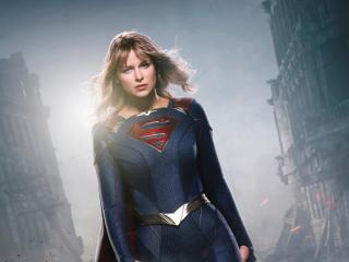 Melissa Benoist as Supergirl wallpaper