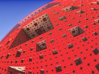 Menger Sponge 3D Abstract Fractal wallpaper