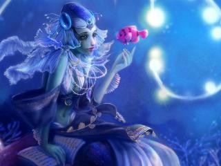 HD Wallpaper | Background Image mermaid, ornaments, water