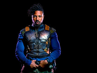 Michael B Jordan As Erik Killmonger In Black Panther 2018 wallpaper