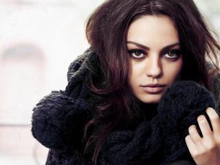 mila kunis, actress, make-up wallpaper