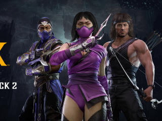 Mileena and Rambo Mortal Kombat 11 wallpaper