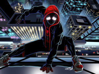 Miles Morales Cartoon Art wallpaper