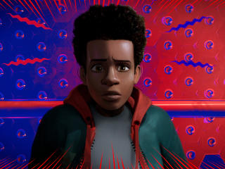 Miles Morales In Spider Man Into The Spider Verse wallpaper