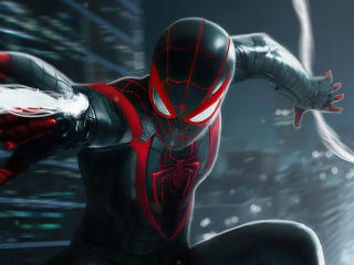 Miles Morales Spider-Man Black Suit wallpaper