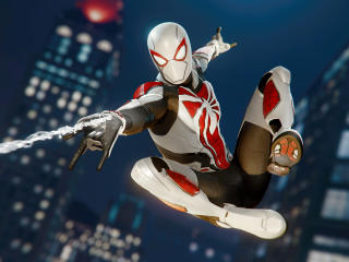 Miles Morales Spider-Man White Suit wallpaper