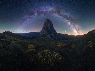 Milky Way Mountains wallpaper