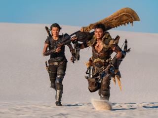 Milla Jovovich and Tony Jaa In Monster Hunter wallpaper