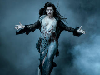 Milla Jovovich as Blood Queen in Hellboy wallpaper