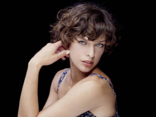 Milla Jovovich Short hair style wallpapers wallpaper