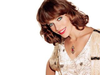 Milla Jovovich smile wallpaper wallpaper