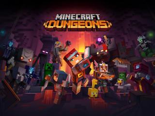 Minecraft Dungeons Poster wallpaper