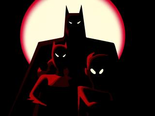 Minimal Batman Family wallpaper