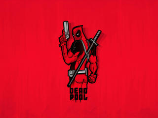 Minimal Deadpool wallpaper