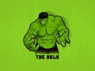 Minimal Hulk wallpaper
