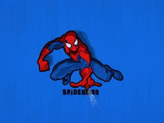Minimal Spiderman wallpaper