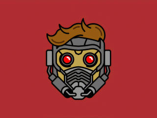 Minimal Star Lord Mask wallpaper