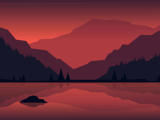 Minimalist Landscape Painting wallpaper