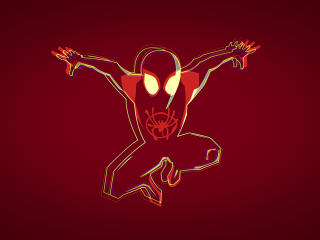 Minimalist Spiderman Into the Spider-Verse 4K wallpaper