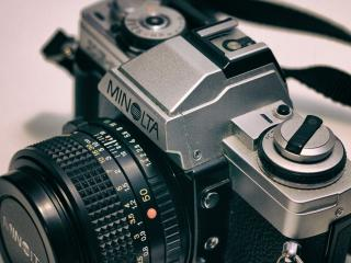 minolta, camera, retro wallpaper