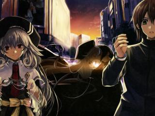 misaki kurehito, anime, boku to kanojo ni furu yoru wallpaper