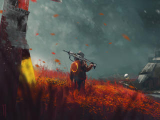 Missing Alone Boy In Destiny 2 Farm Art wallpaper